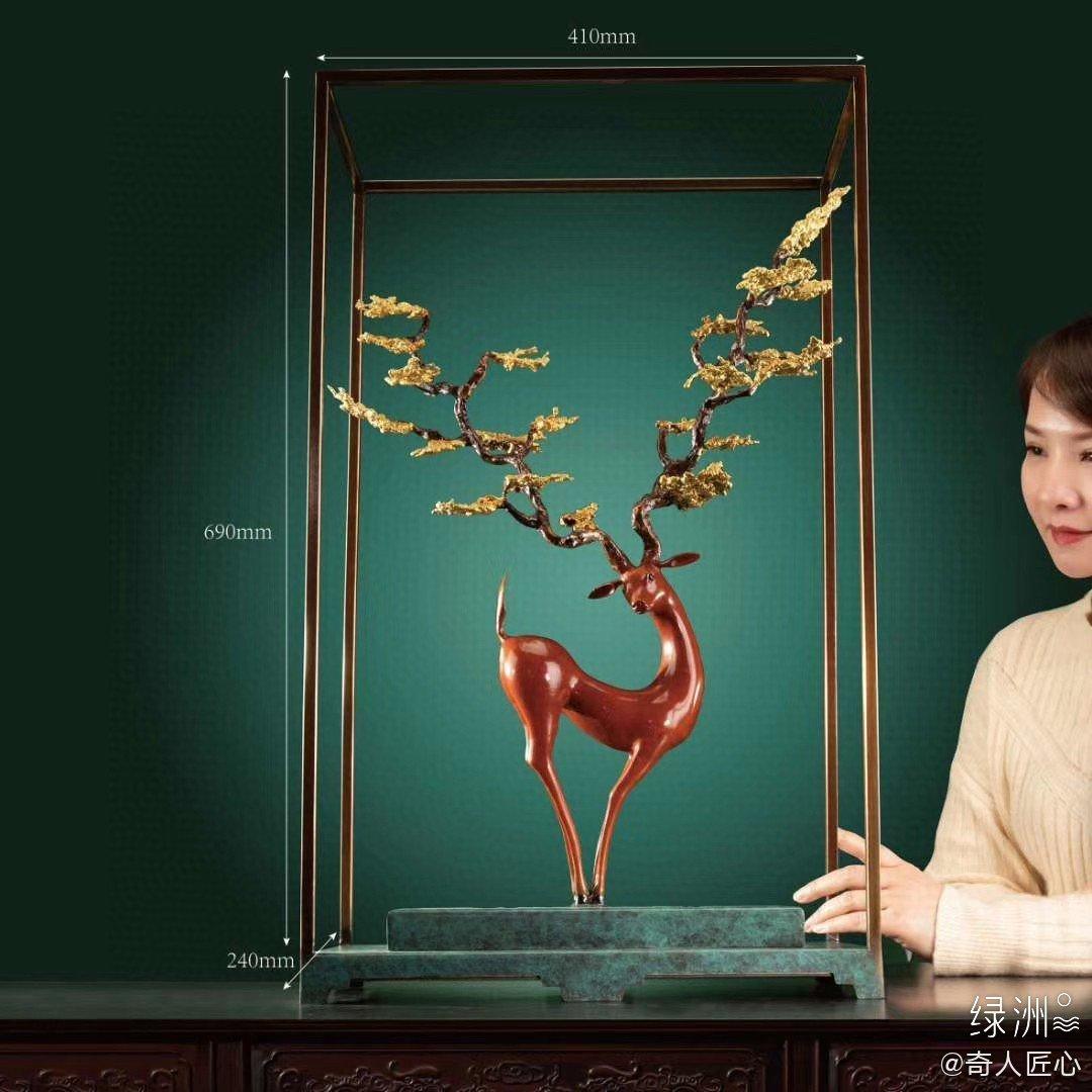 铜雕作品—鹿 把鸿运,带回家!省大师朱军岷2020新作惊艳首发