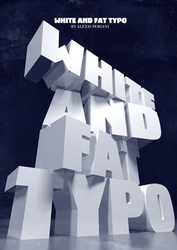 立体文字创意海报设计图片