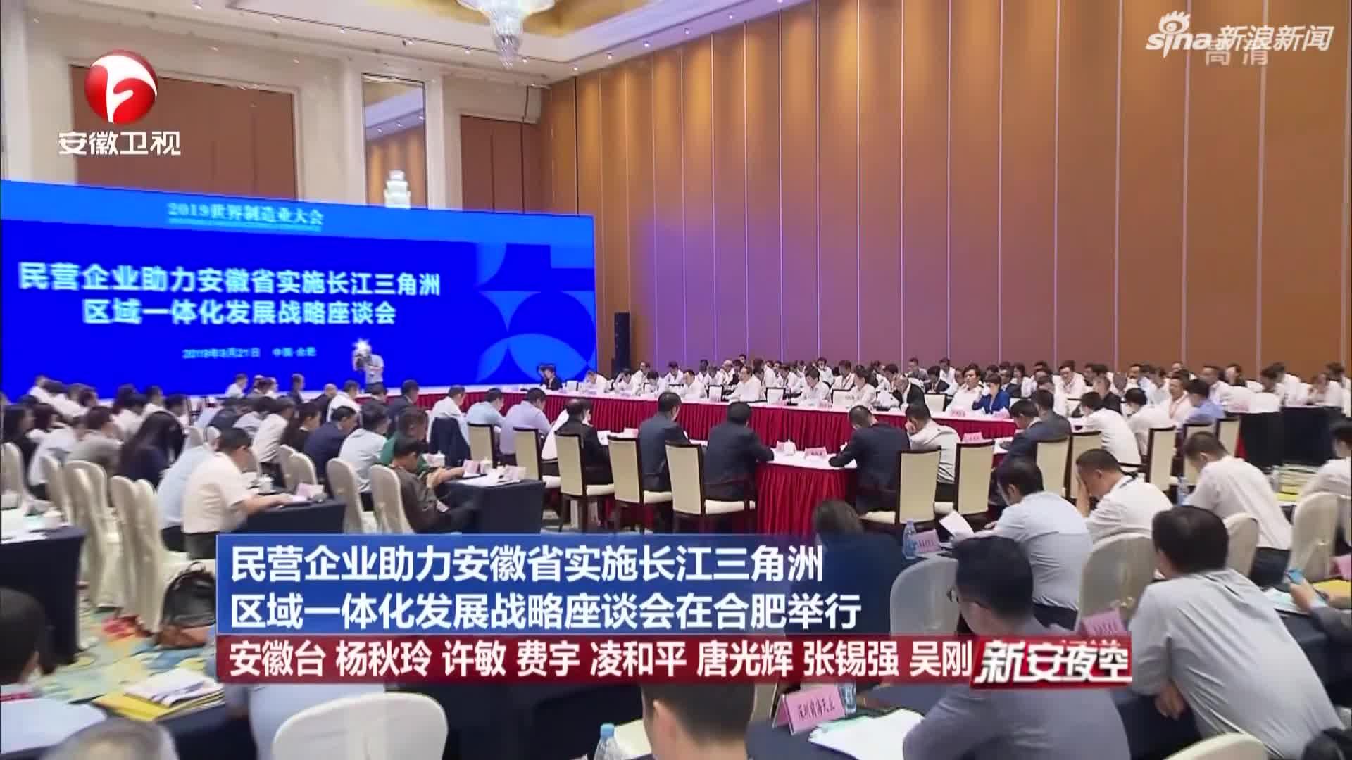《新安夜空》民营企业助力安徽省实施长江三角洲区域一体化发展战略座谈会在合肥举行