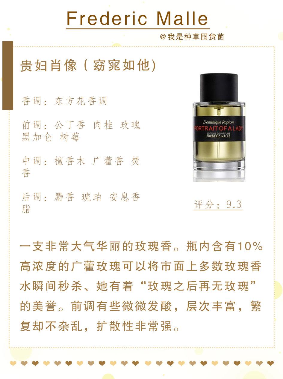 法国知名香水品牌斐德瑞克·马尔 (Frederic Malle)汇聚了世界著名的调