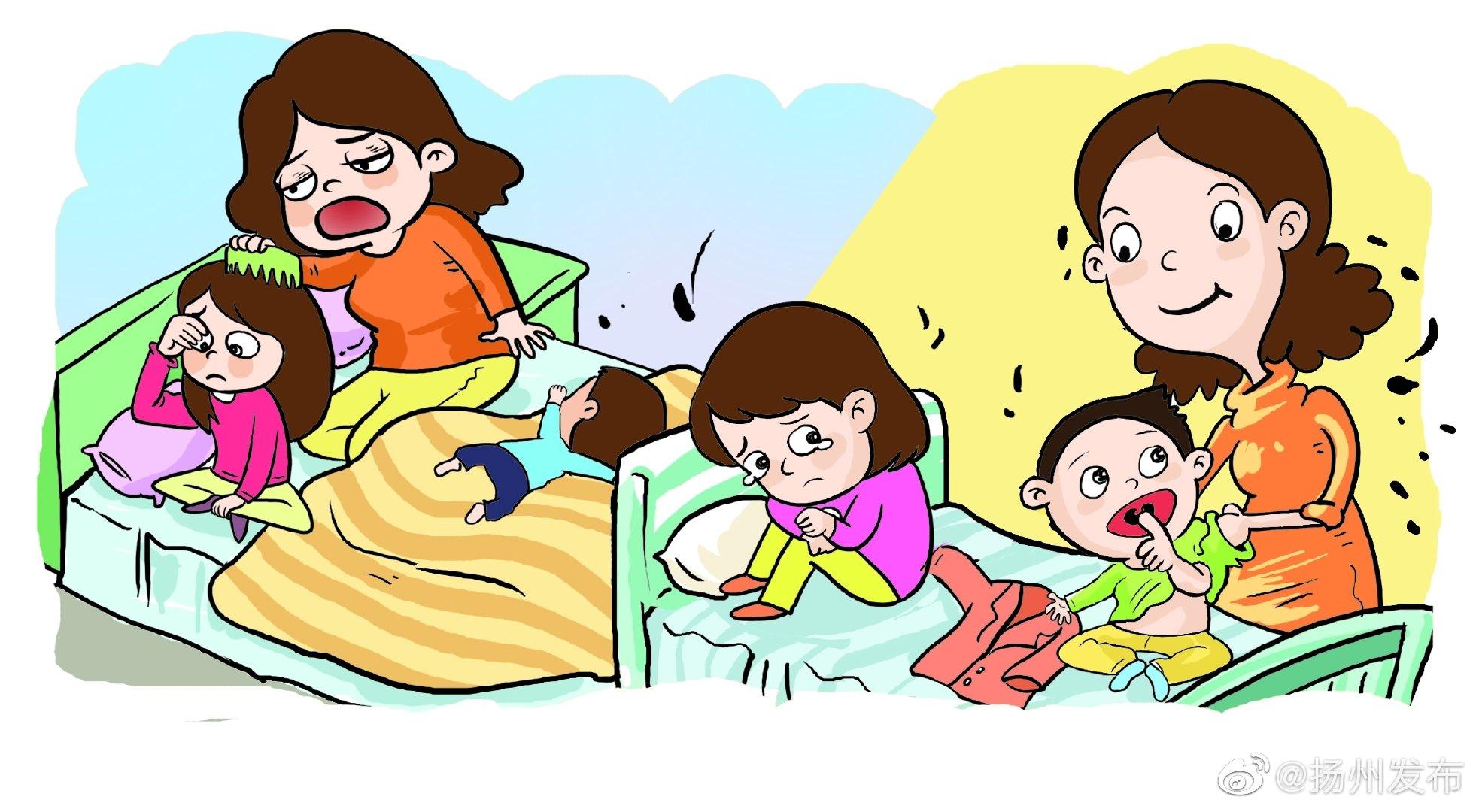 有二宝的快看看!扬州这个女孩天天6点起床央求妈妈扎辫子