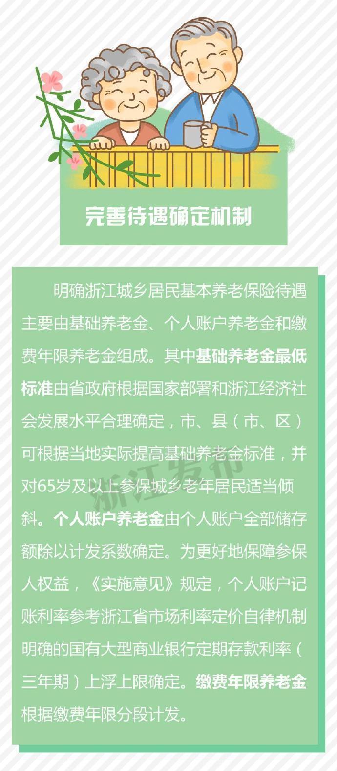 浙江建立城乡居民基本养老保险待遇确定和基础养老金正常调整机制