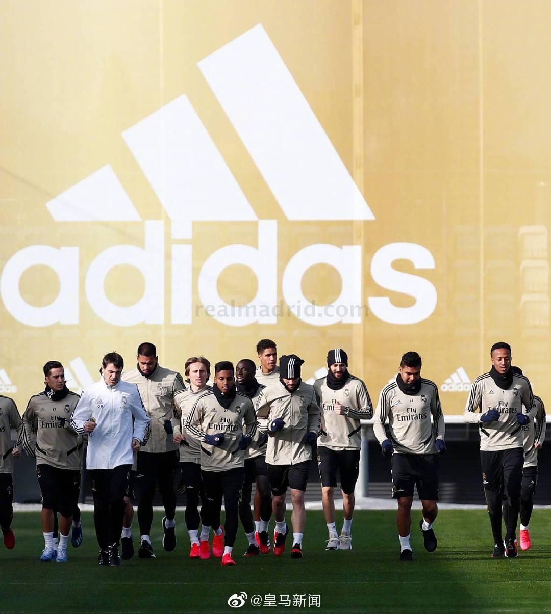 皇马全队训练备战巴拉多利德:拉莫斯开始有球训练