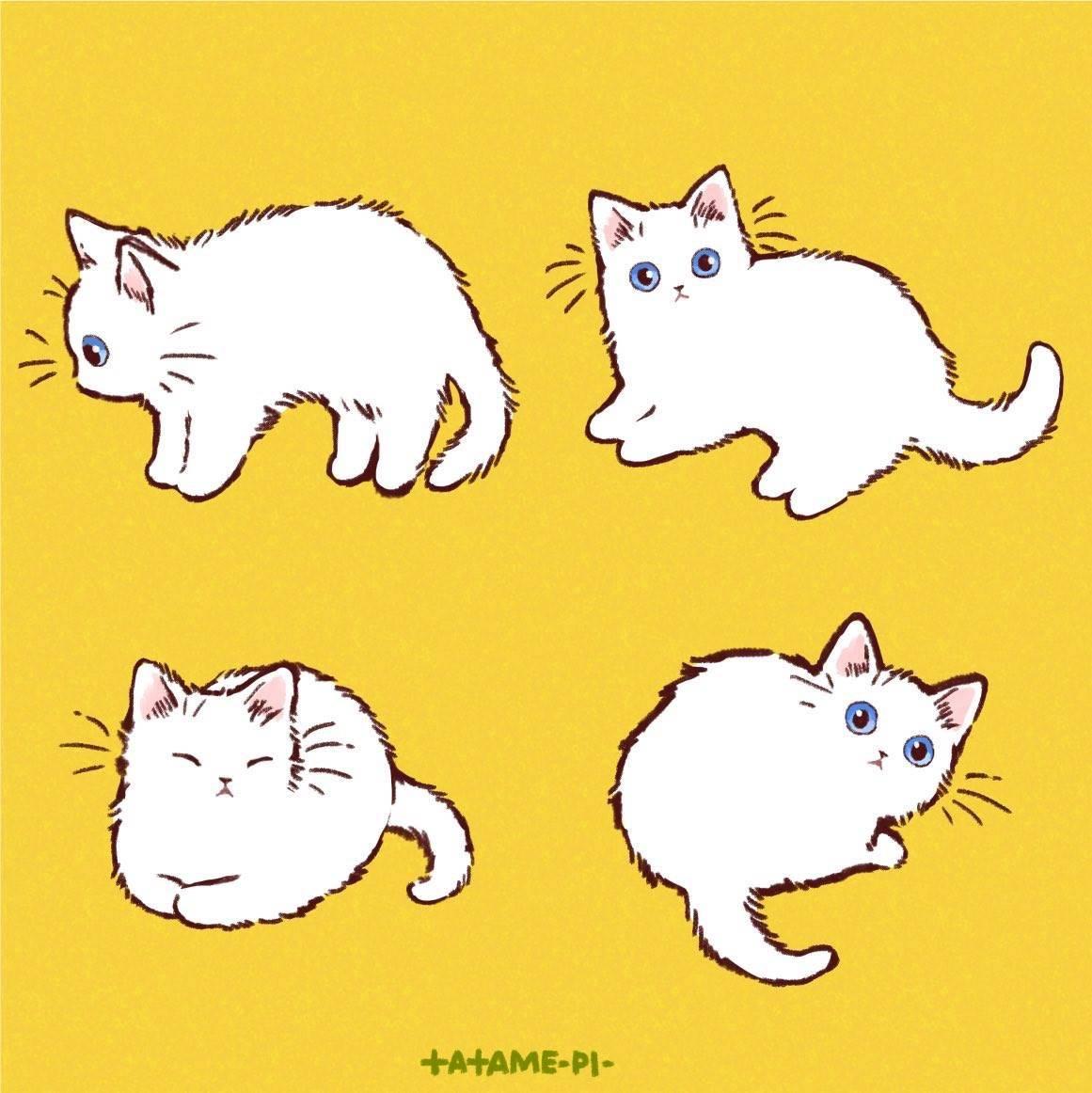 许多可爱的猫咪简笔画作者 たたメーピー