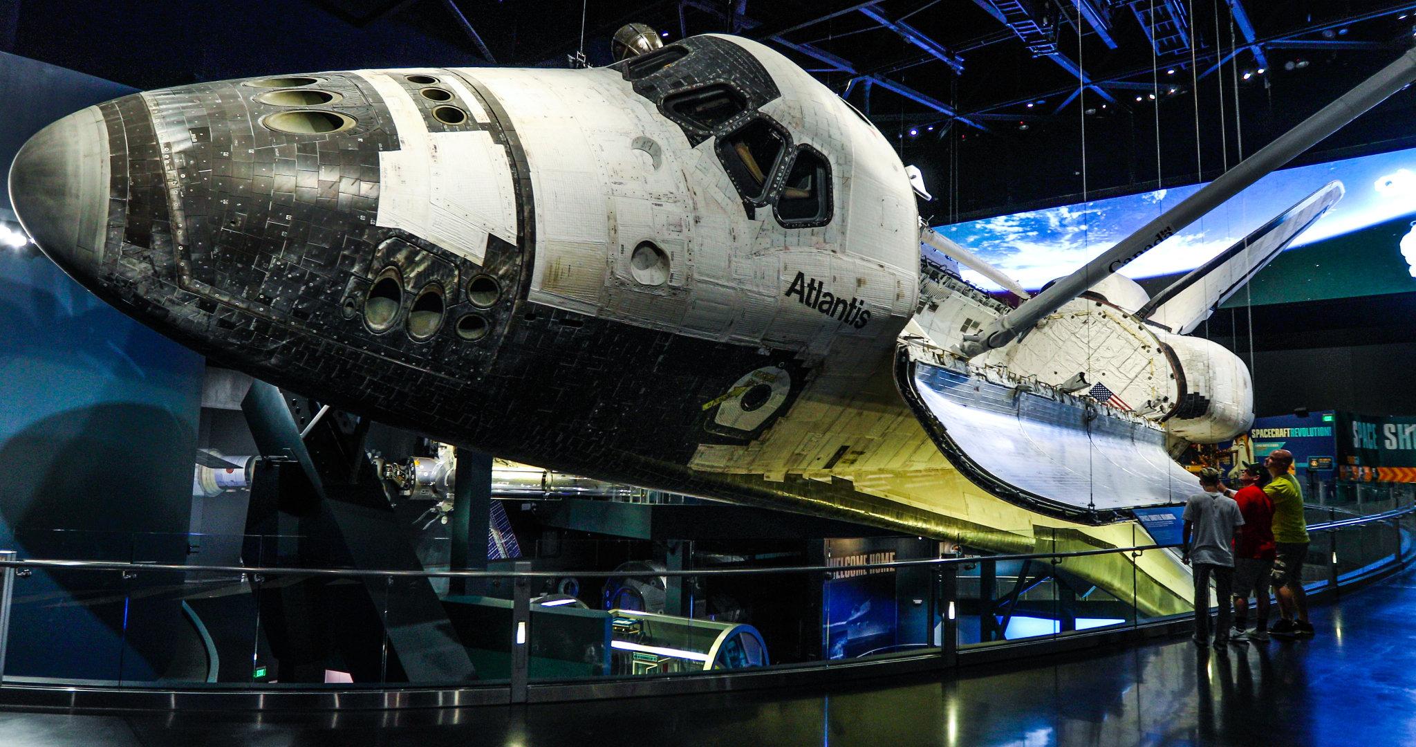 在奥兰多的肯尼迪航天中心游览区