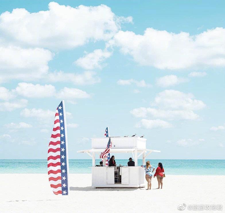 迈阿密的海滩 .