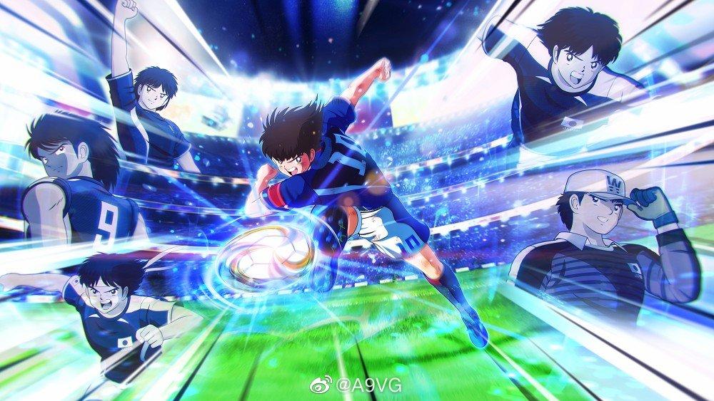 PS4/Switch/PC《队长小翼 新秀崛起》主视觉图、中文版封面图及一组高