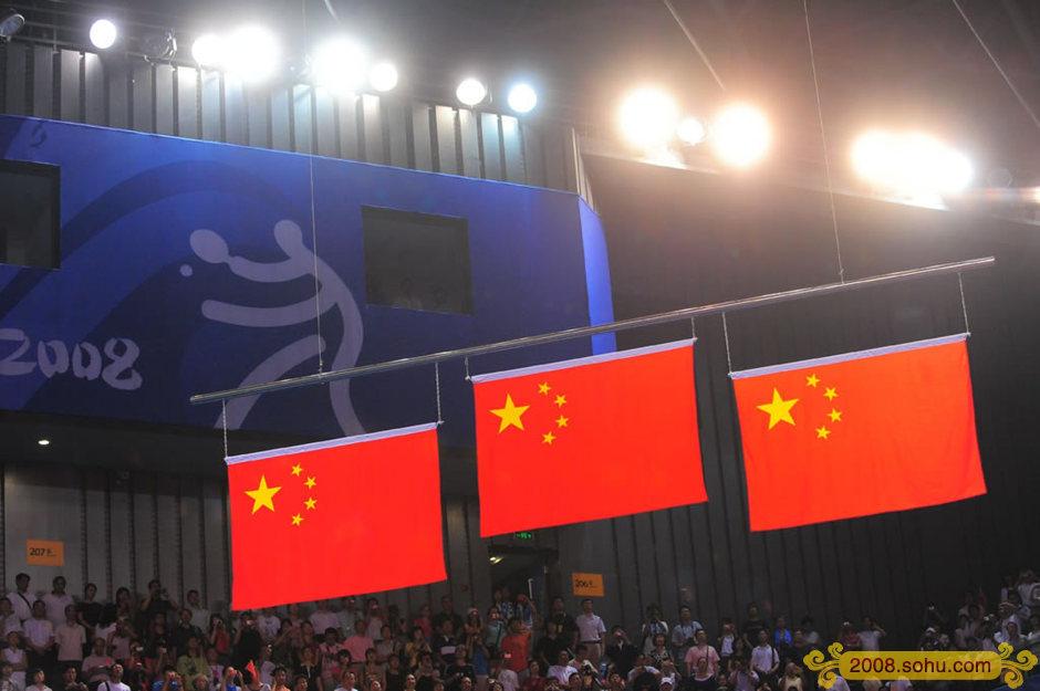 2008年8月23日,北京奥运会男单决赛,马琳战胜王皓获得金牌