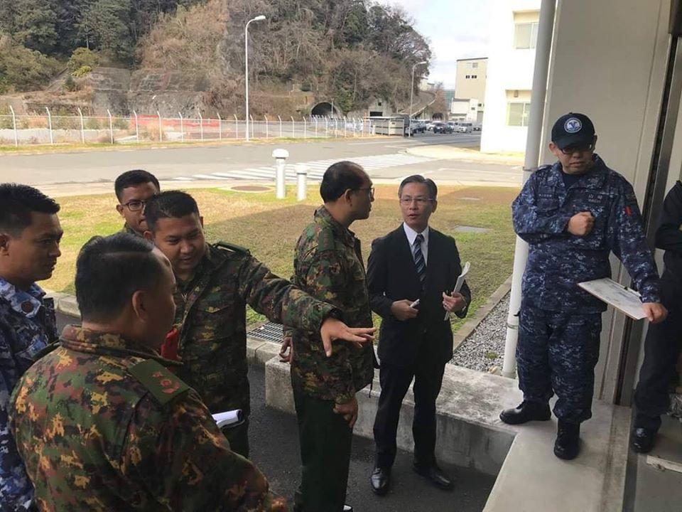 """日本邀请缅甸军事人员前往海上自卫队水下救援中心和潜艇救难舰""""千代"""