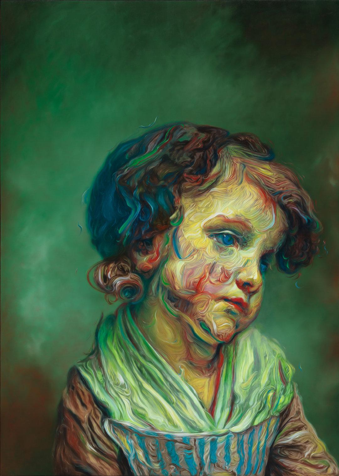 超越时间和图像惯例的艺术语言英国艺术家 Glenn Brown 用丙烯颜料