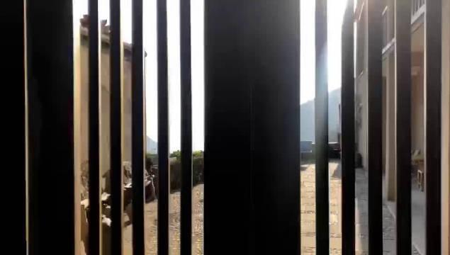 山间民宿,院落藏着风景如画 在松阳的一件民宿中,推开后院的门