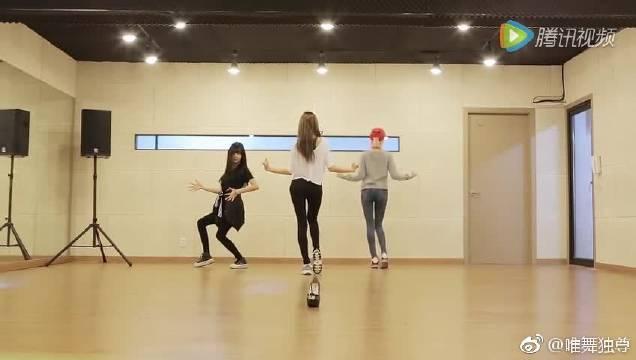 韩国女团橙子焦糖舞蹈练习,原来舞蹈秘诀是要叫出来?