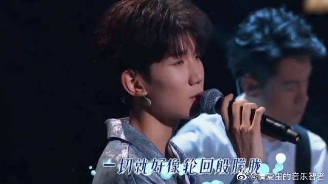 张杰和王源同台深情合唱《明天过后》,唯美的现场