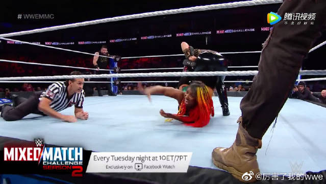 WWE混双挑战赛第二季,布朗安柏对战加拿大小队欧文斯和娜塔莉亚!
