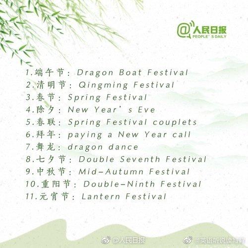 100个中国传统文化名词,你会用英语表达吗?