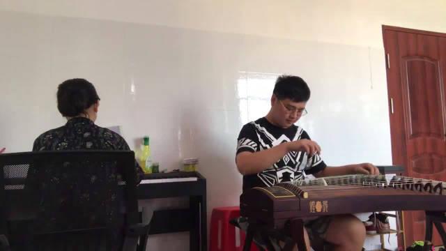 古筝钢琴合奏《枫桥夜泊》,演奏 希望竹,作曲 王建民