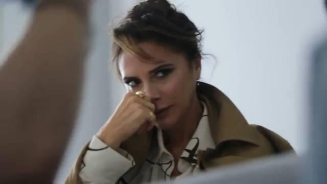 维多利亚贝克汉姆波兰版Vogue十二月刊拍摄花絮.