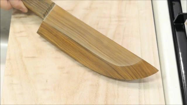 制刀大神的神操作,打造世界上最锋利的木厨刀!看完爽一天吧