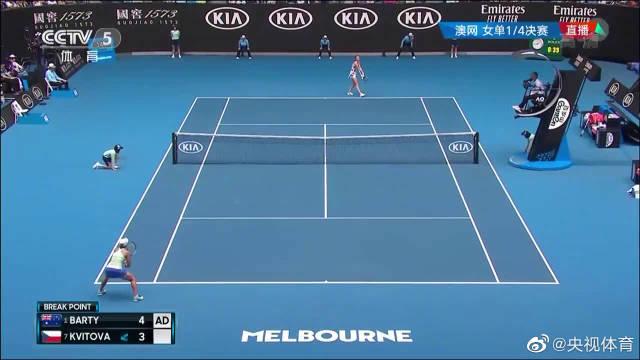 澳网:巴蒂2-0胜科维托娃 晋级女单四强