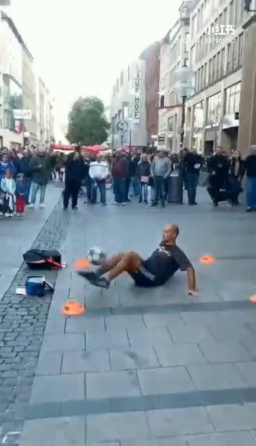 街头足球艺术,厉害了!