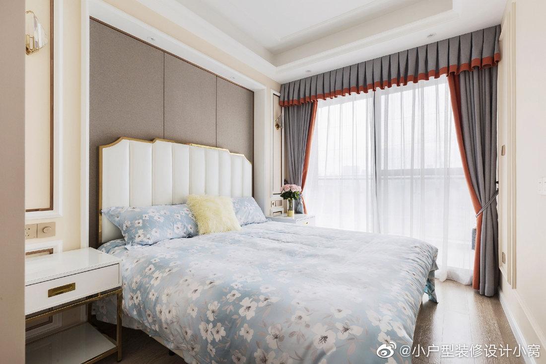 美式风格卧室背景墙造型参考图片