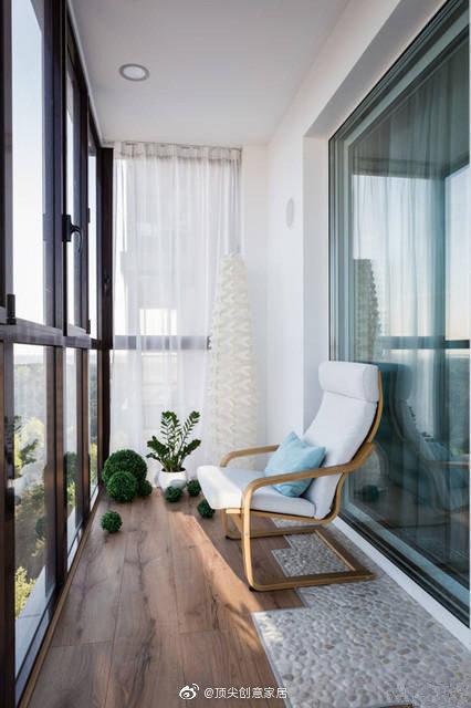 阳台区域的创意改造,放松身心的自由空间。
