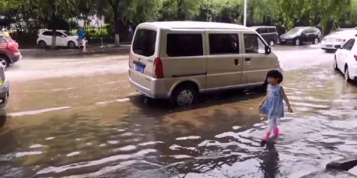 沈阳:大雨后的仙女湖路。注意出行安全!(By沈阳崔凯)