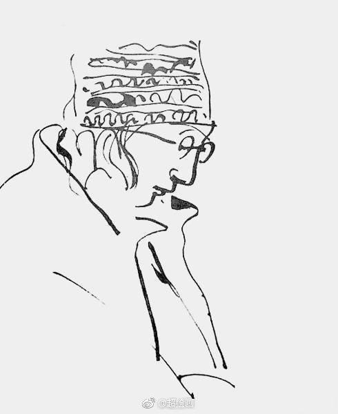 已故心脏内科医生韦尔乔先生在值夜班的时候画在病历单上的作品