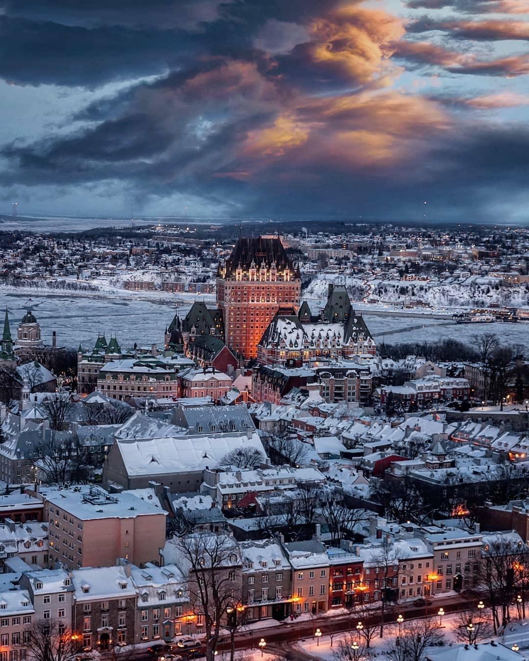 冬季的魁北克,美得像童话