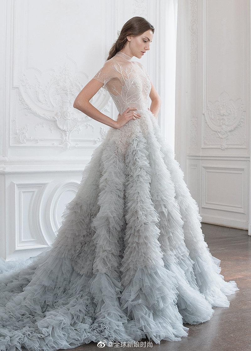 仙女系艺术精品婚纱! 华丽脱俗的浪漫