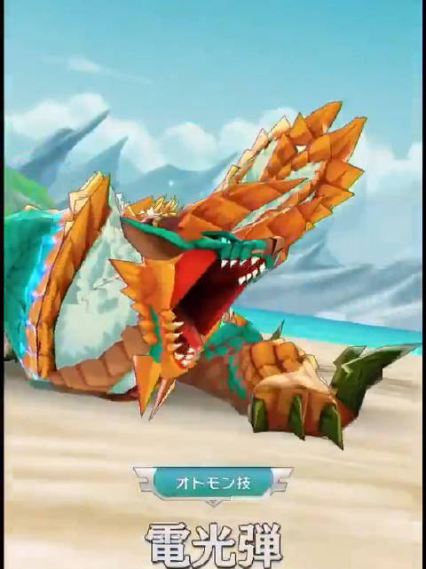 《怪物猎人》手游《怪物猎人 Riders》战斗系统展示。