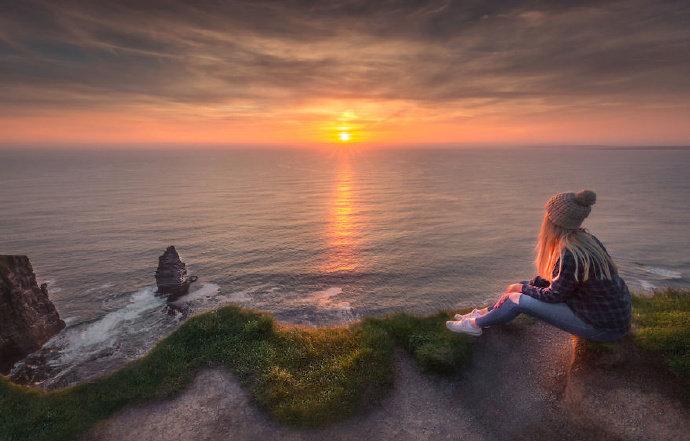镜头下爱尔兰的海边