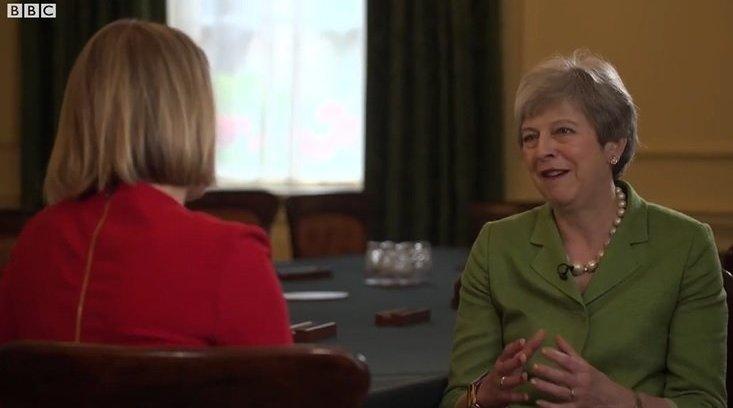 梅姨在英国首相府唐宁街10号的最后一次访谈,回顾了任职期间的得失