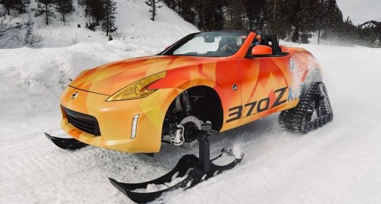 想在雪地里玩漂移?日产370Zki概念车了解一下!