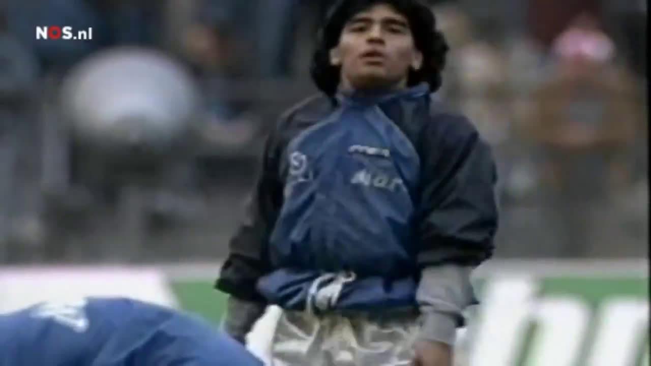 在1989年欧洲联盟杯半决赛对阵拜仁慕尼黑的比赛开始之前