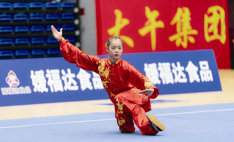 温州16岁女生胡书婷斩获全国武术大赛冠军