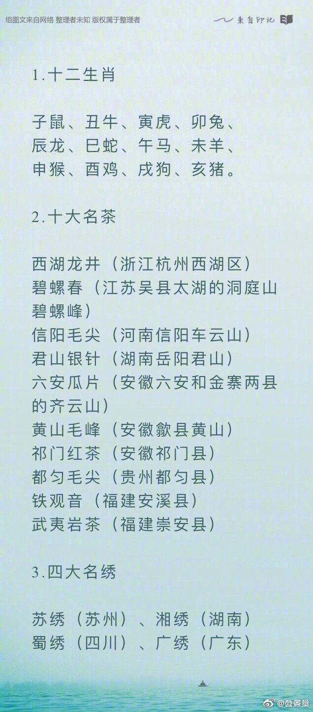 42个中华传统文化常识