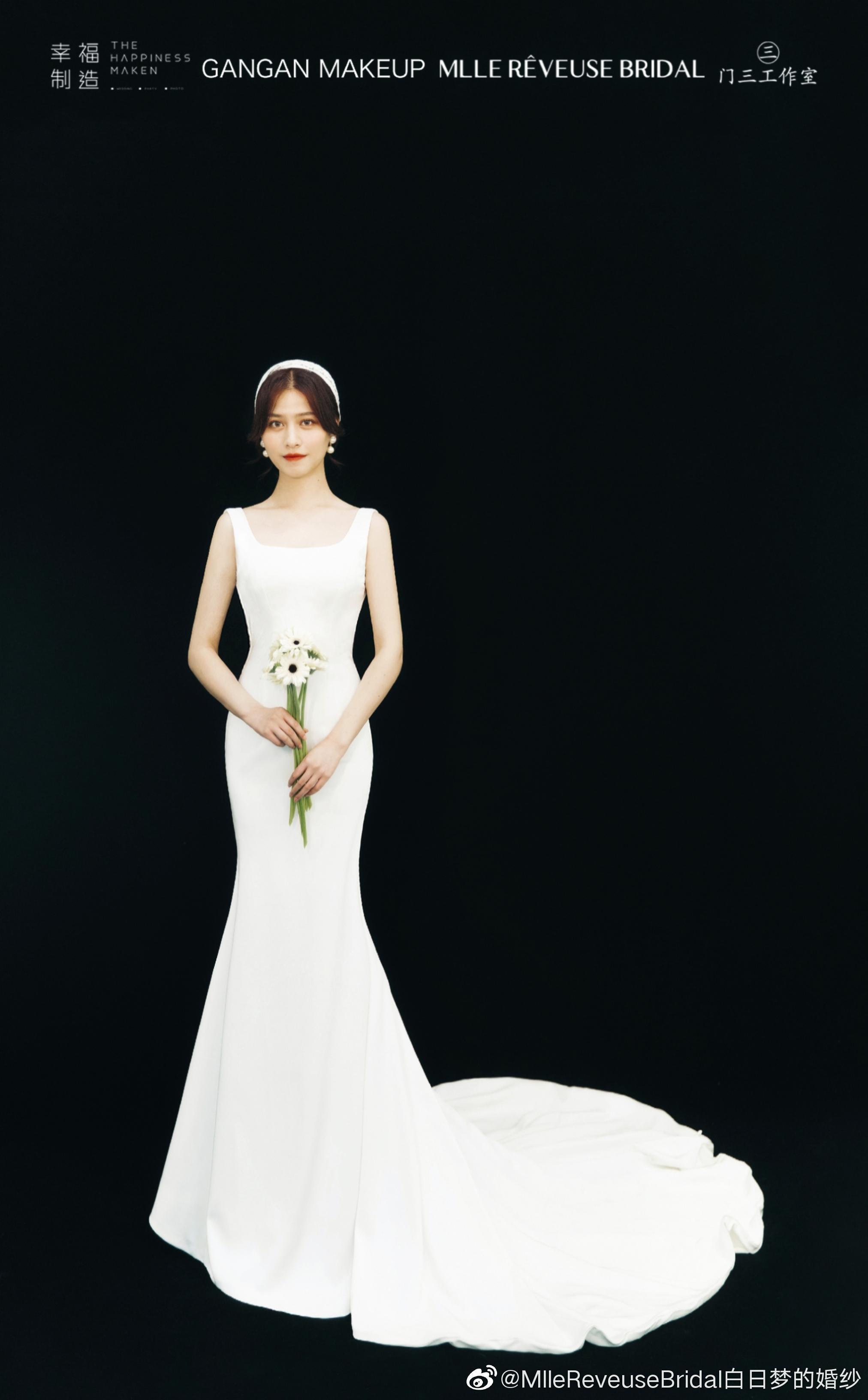 穿上婚纱的你梦幻且闪耀