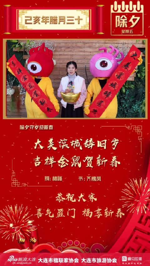 大美滨城辞旧岁吉祥金鼠贺新春——新浪大连总经理 蔺欢 ——恭祝