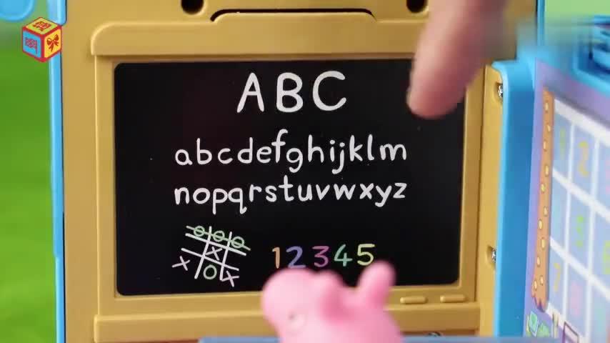小猪佩奇校车教师佩奇回答老师的问题