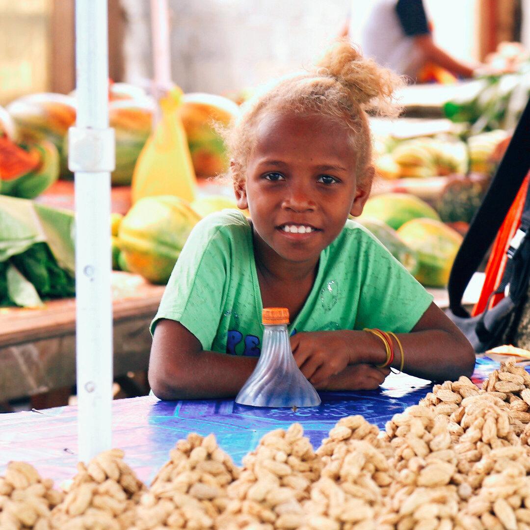 热带风情 所罗门群岛农夫市场 每到一个新的国家