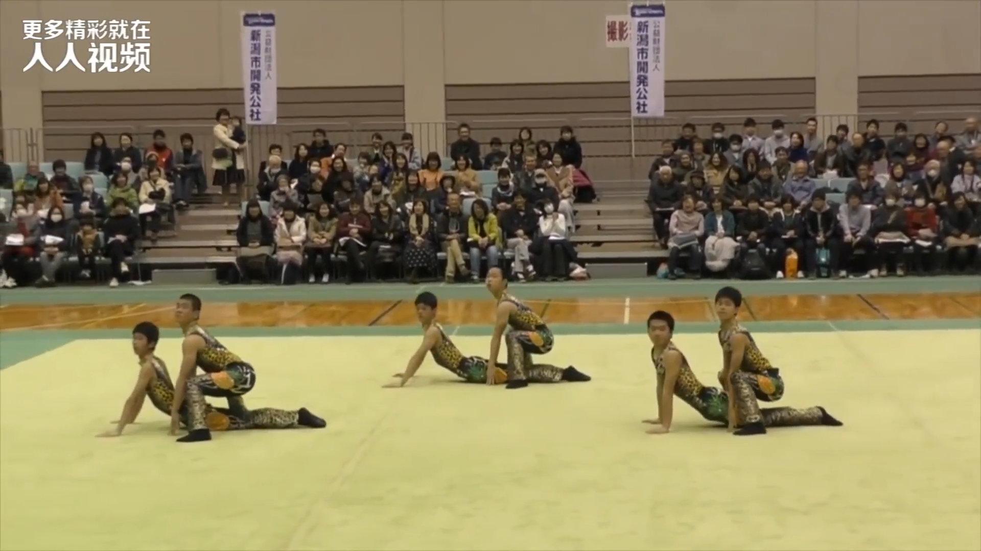 超厉害又爆笑的日本男高体操!实力演绎PPAP,也太有才了!