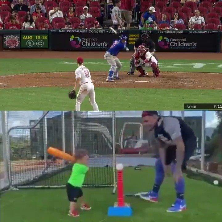哈维尔-拜耶兹(Javier Baez)一岁儿展现球技现在你终于知道