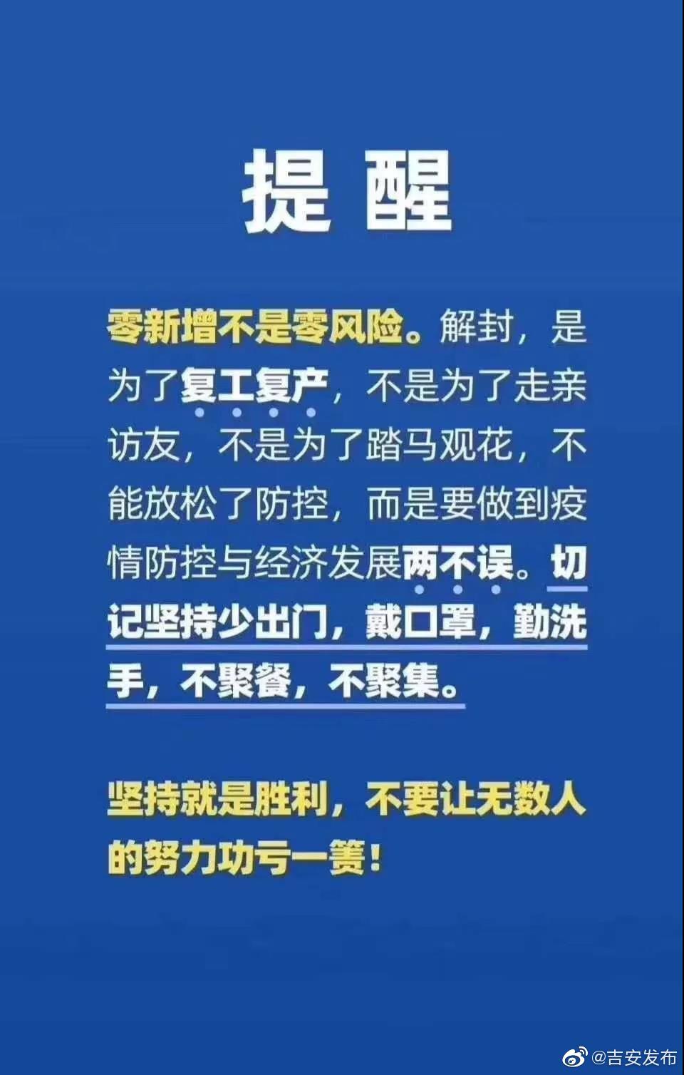 2020年2月22日吉安市无新增新型冠状病毒肺炎确诊病例根据江西省卫生