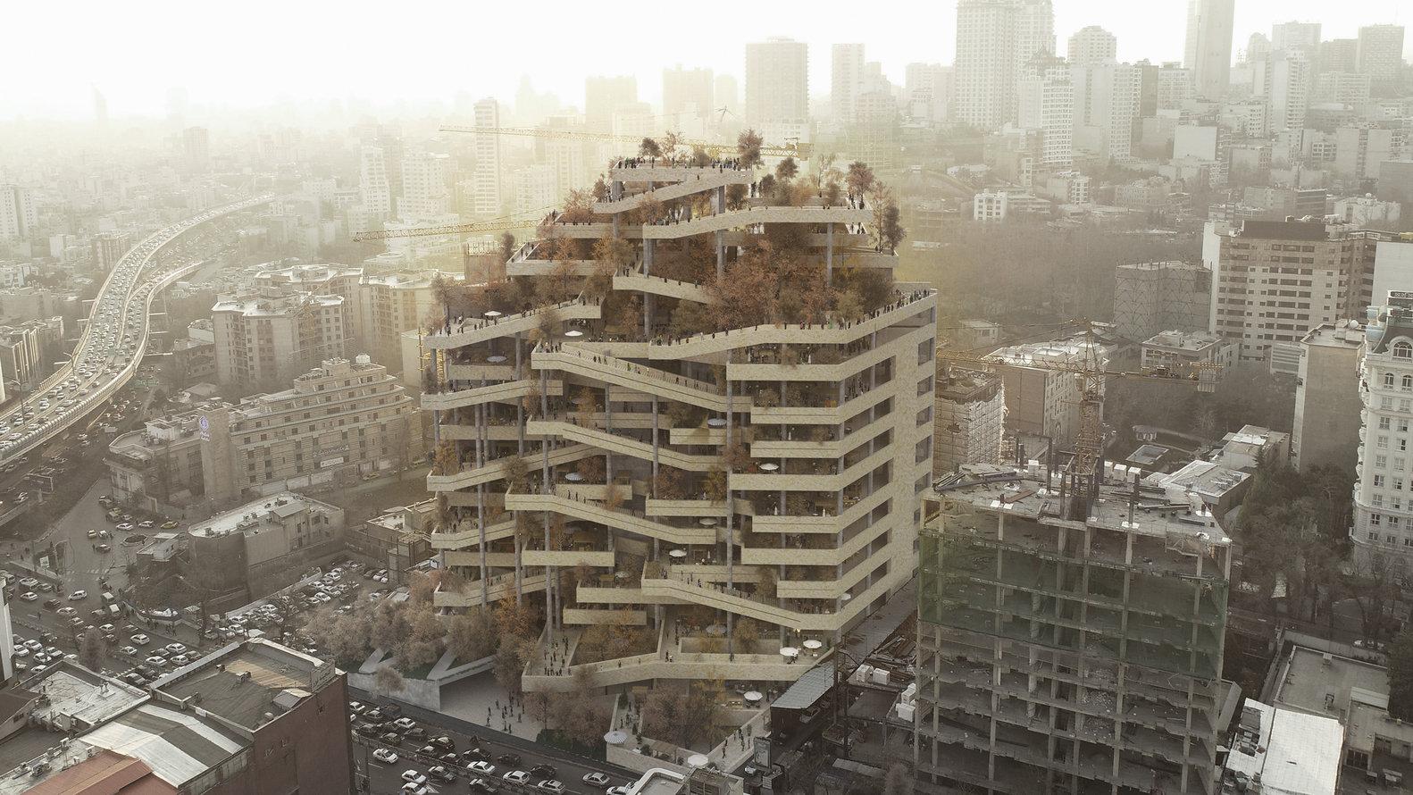 FMZD新作'德黑兰之眼',废弃混凝土的结构重组