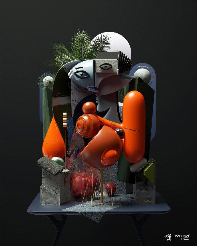 抽象画的现代艺术模型设计 | Omar. Aqil