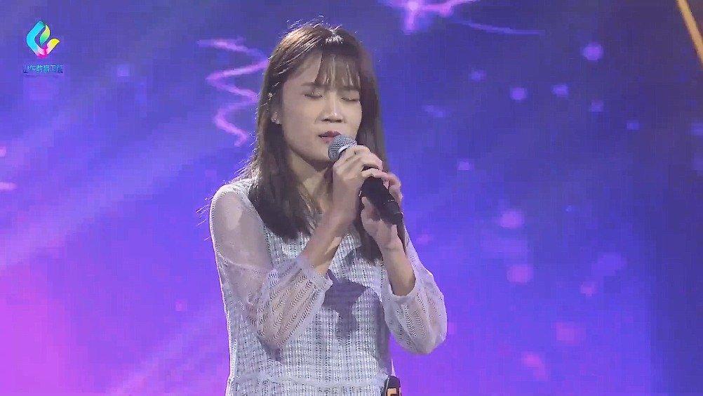山东农业大学的吴梦潇,演唱《她说》