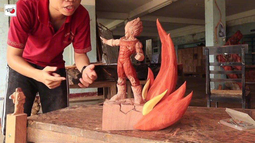 越南小哥做的魔人贝吉塔木雕(: Woodart Vietnam)