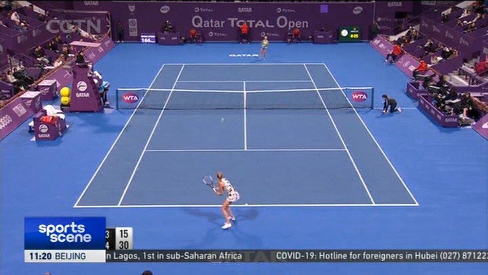 WTA多哈赛-科维托娃6-4/2-6/6-4巴蒂晋级决赛