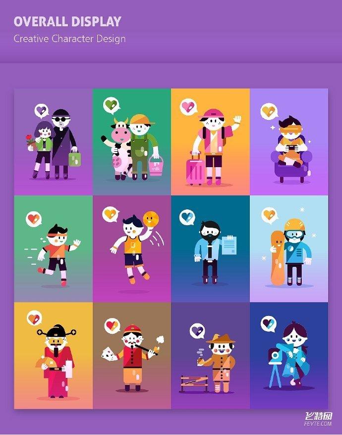 教你AI绘制扁平化人物插画教程! (作者 Ai肖博士)